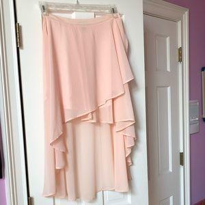Pink High-Low Flowy Maxi Skirt 💕